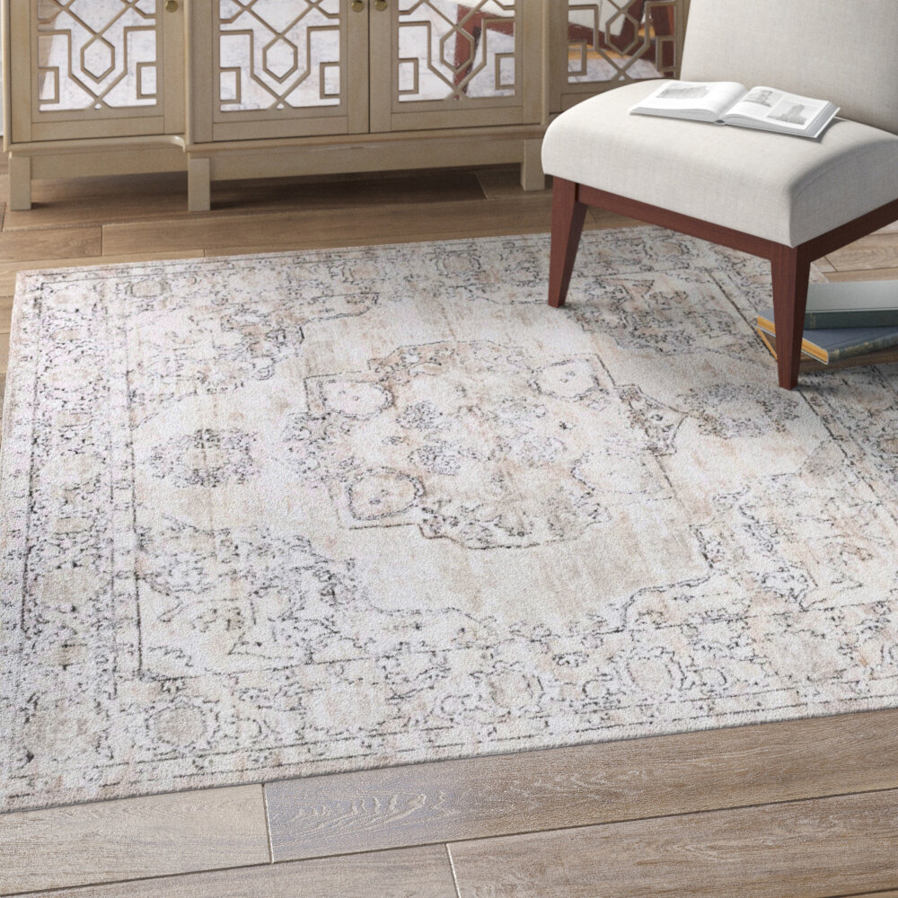 Coastal Farmhouse Cantey Oriental Ivory Area Rug Reviews Wayfair