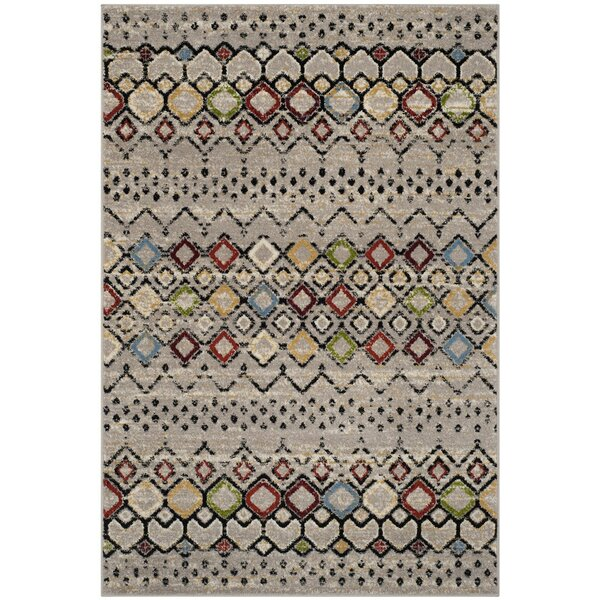 Vadim Light Gray Area Rug by World Menagerie