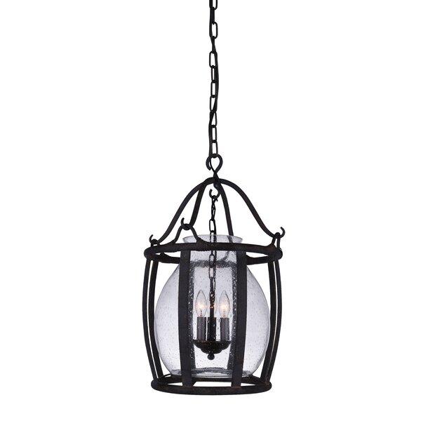 Eliza 3 - Light Lantern Geometric Chandelier By Darby Home Co
