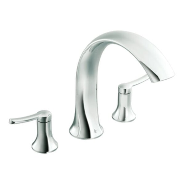 Fina Two Handle Deck Mount Roman Tub Faucet Trim by Moen