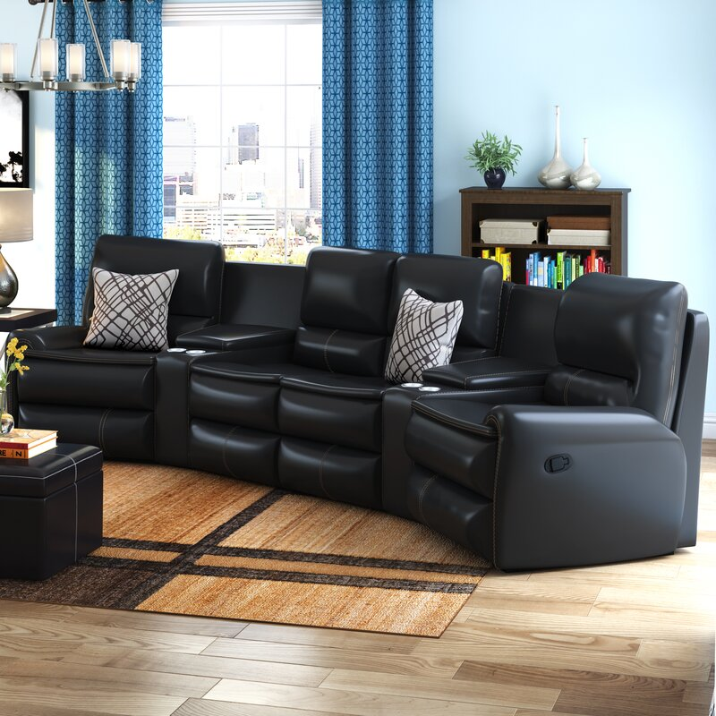 Yonkers Leather Reclining Sectional & Latitude Run Yonkers Leather Reclining Sectional u0026 Reviews | Wayfair islam-shia.org
