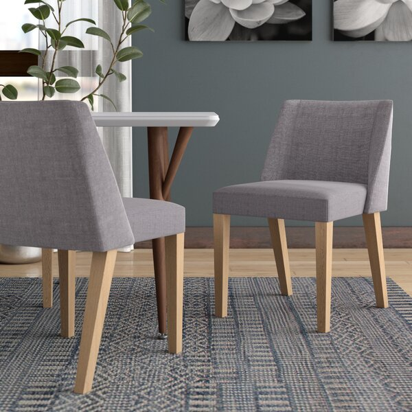 Heron Fabric Side Chair (Set of 2) by Ebern Designs