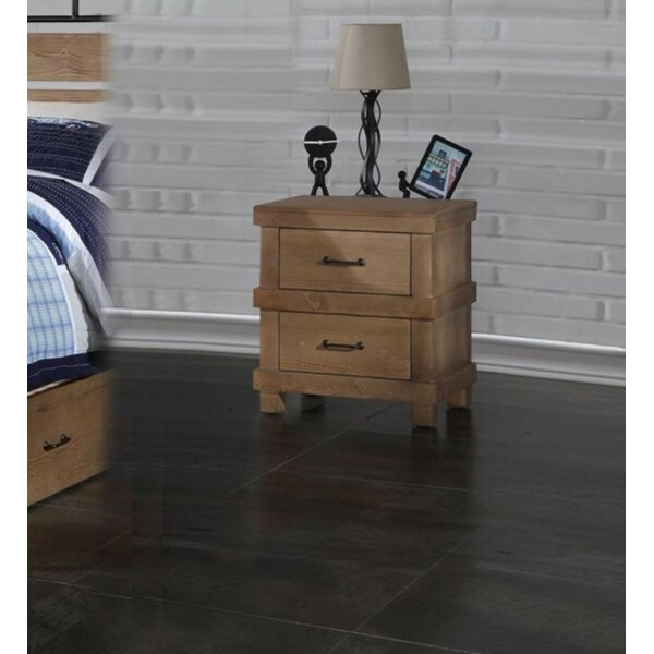Swind 2 Drawer Nightstand by Loon Peak