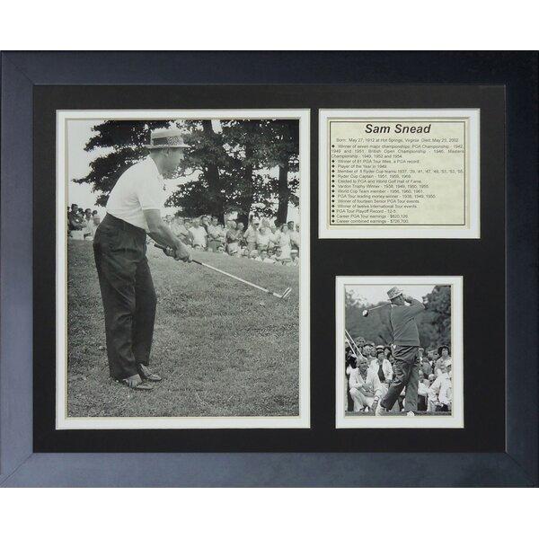 Sam Snead Framed Memorabilia by Legends Never Die