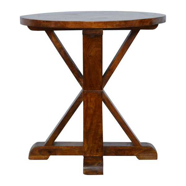 Patillo Round Solid Wood Dining Table by Loon Peak