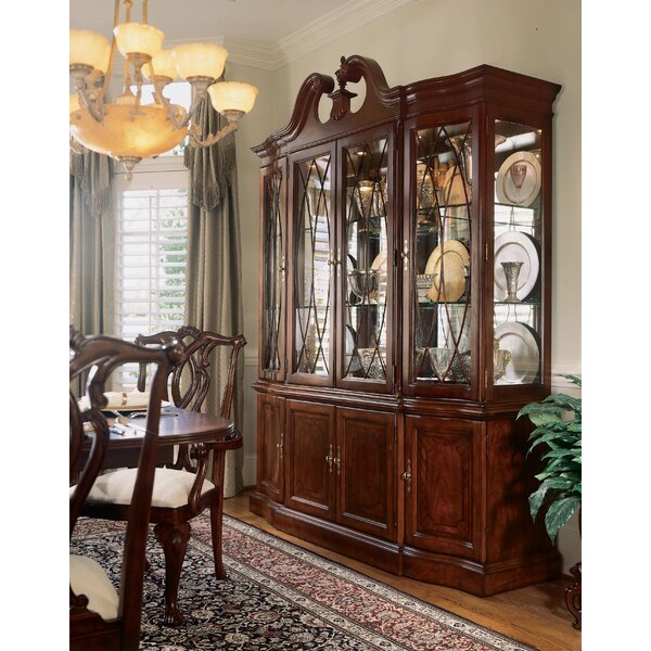 Staas Wood Lighted China Cabinet by Astoria Grand