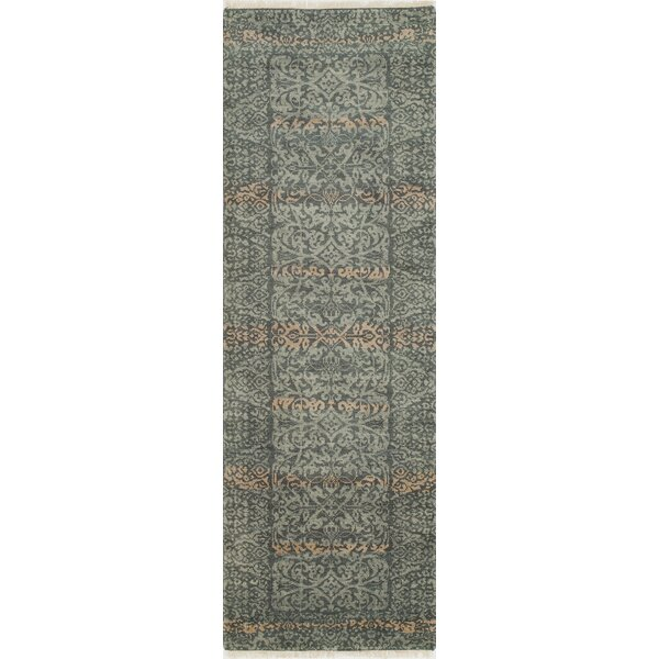 Landreneau Hand-Knotted Blue Knotted Rug by Darby Home Co