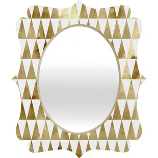 Wrought Studio Mcallister Triangle Pattern Quatrefoil Accent Mirror