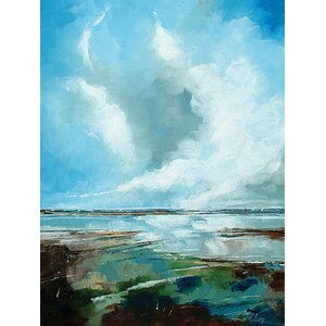 Seascape Painting Print on Wrapped Canvas by Breakwater Bay