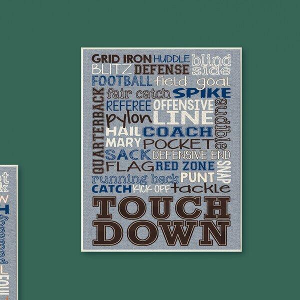 Kleckner Football Typography Denim Feel Wall Plaque by Zoomie Kids