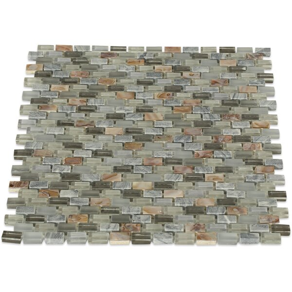 Paradox 0.37 x 0.62 Mixed Material Mosaic Tile in Cryptic by Splashback Tile