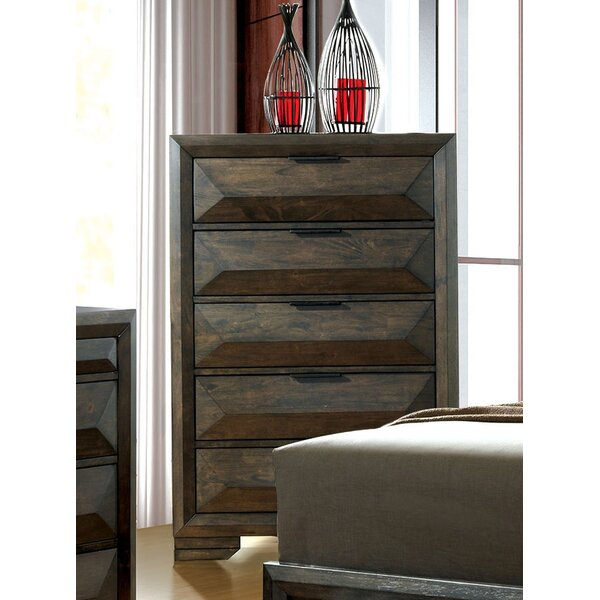 Bender Contemporary 5 Drawer Chest by Union Rustic