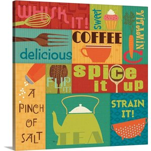 Kitchen It! I Graphic Art on Wrapped Canvas by Great Big Canvas