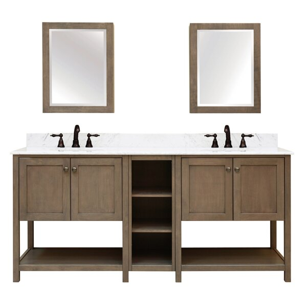 Aiden Bath 2-Shelf Modular Component Double Bathroom Vanity Base by Sunnywood