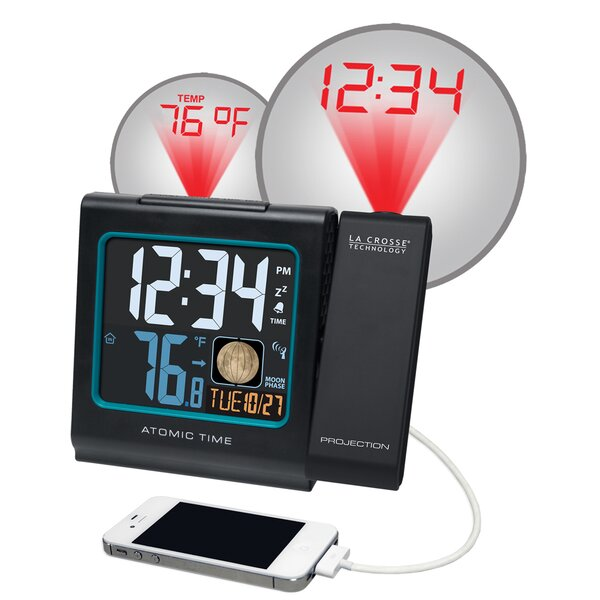 5 LCD Projection Alarm Clock with Moon Phase by La Crosse Technology