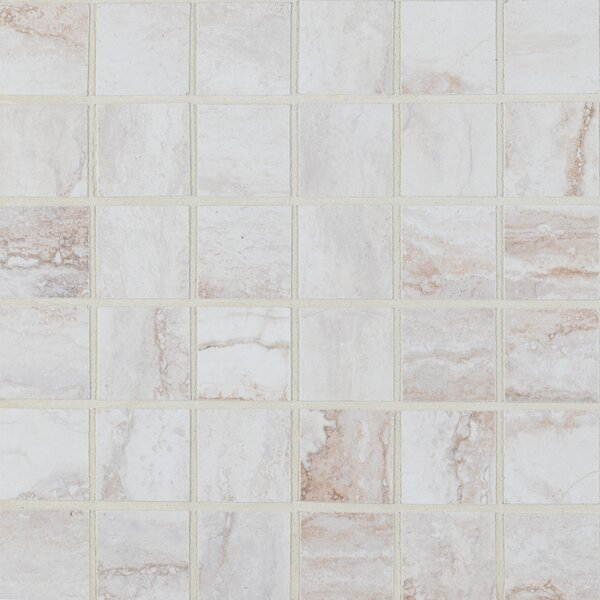 Bernini Bianco 2 x 2 Porcelain Mosaic Tile in Beige by MSI