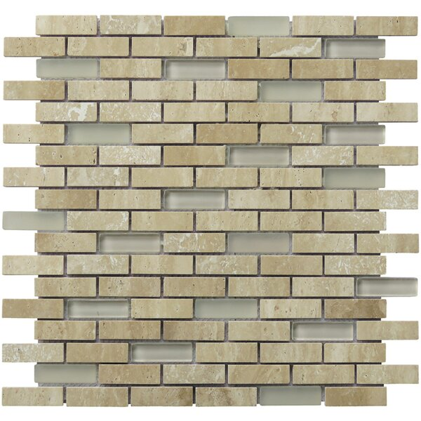 Tranquility 2 x 0.65 Natural Stone Mosaic Tile in Tan by Intrend Tile