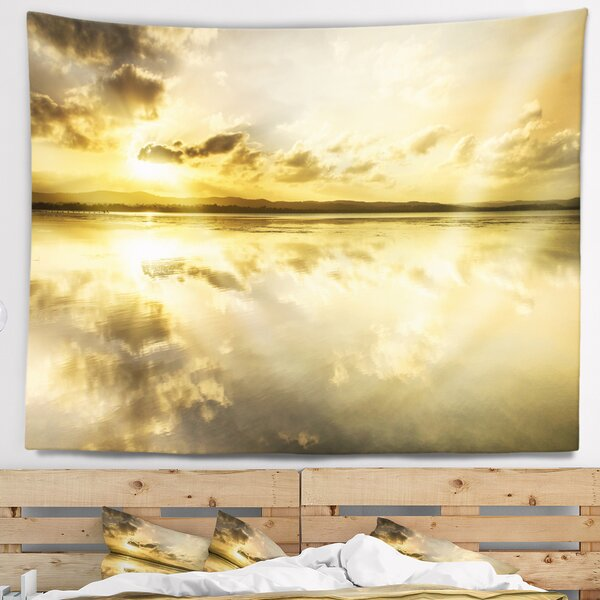 Seashore Amazing Foreshore Reserve Reflection Tapestry by East Urban Home