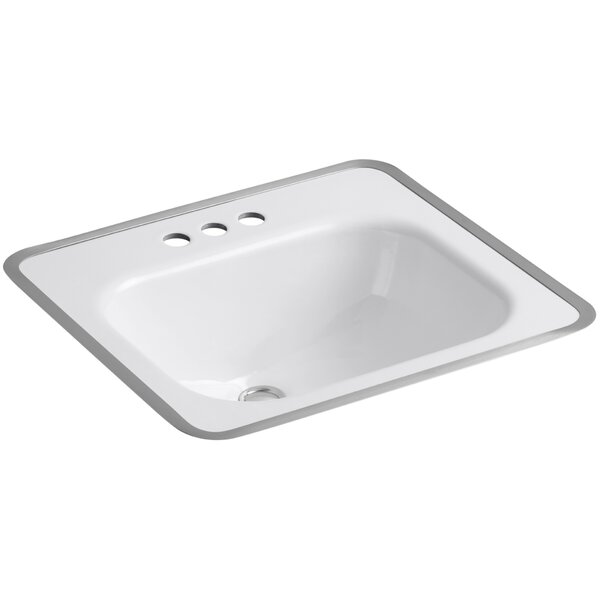 Tahoe Metal Rectangular Drop-In Bathroom Sink with