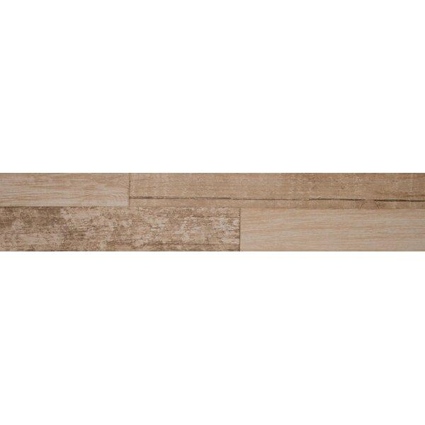 Sierra 9 x 48 Porcelain Wood Look/Field Tile in Beige by MSI