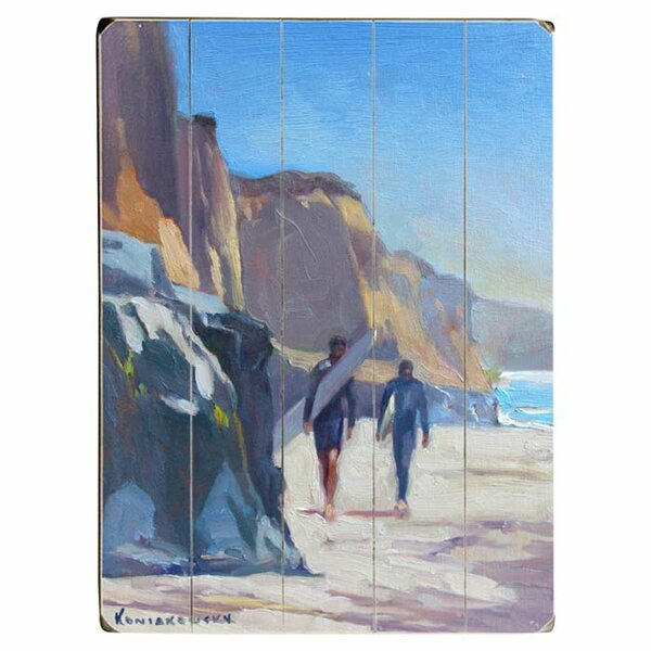 San Diego Surfers Drawing Print Multi-Piece Image on Wood by Artehouse LLC