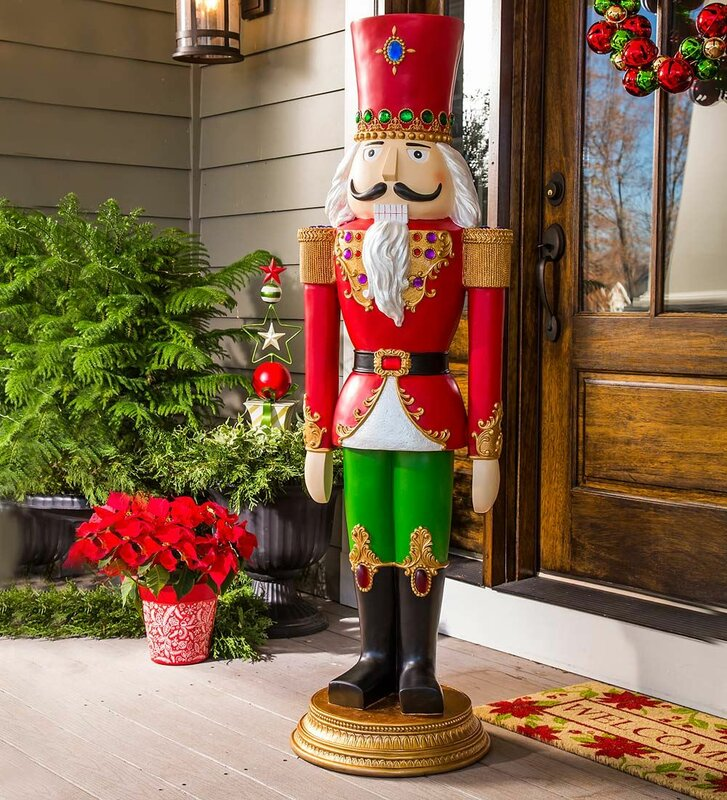 Wind & Weather Giant-Sized Regal Nutcracker & Reviews
