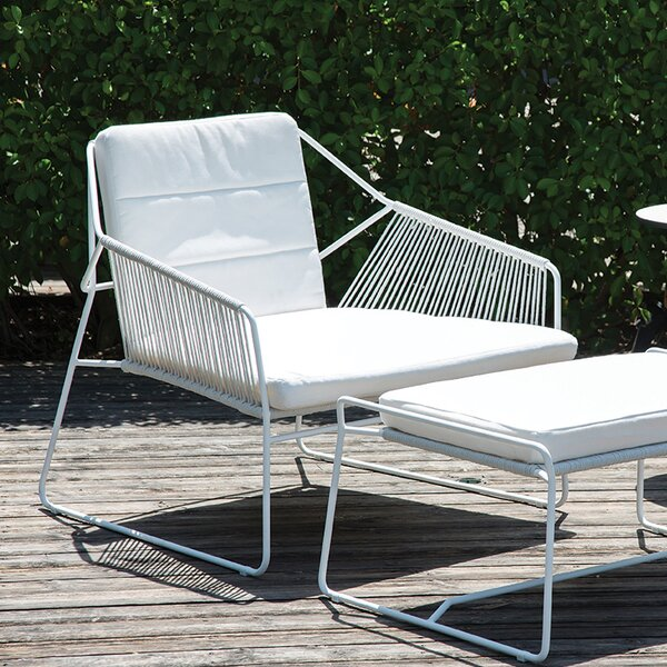 Sandur Patio Chair with Sunbrella Cushions and Ottoman by OASIQ
