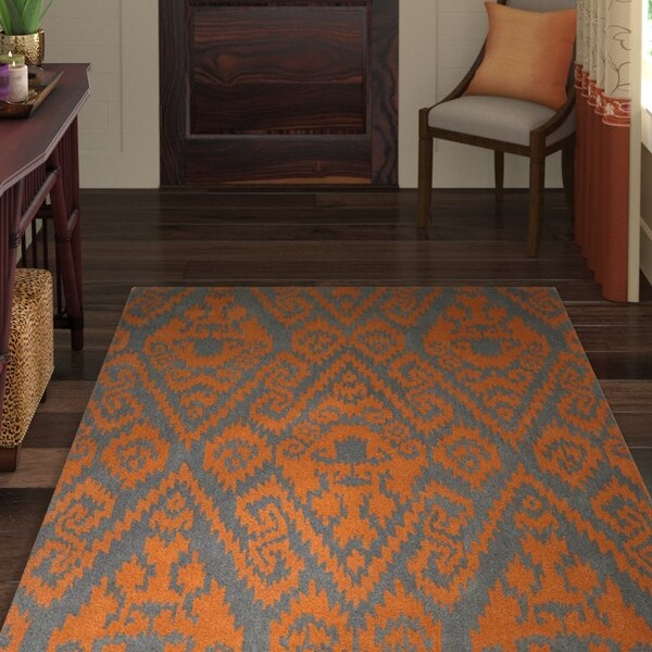Rodeo Orange Area Rug by World Menagerie