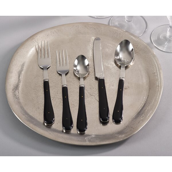 Mengel Handle Stainless Steel 5 Piece Flatware Set by Red Barrel Studio