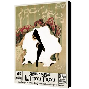 Le Frou Frou'' by Lucien-Henri Weiluc Graphic Art on Canvas by ArtWall