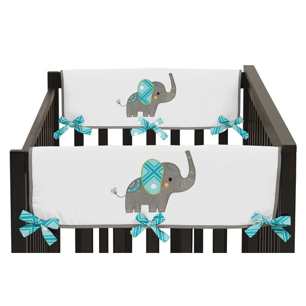 Mod Elephant Crib Rail Guard Cover (Set of 2) by Sweet Jojo Designs