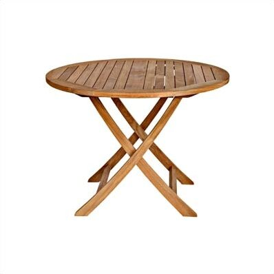 Cambridge Folding Teak Dining Table by Three Birds Casual