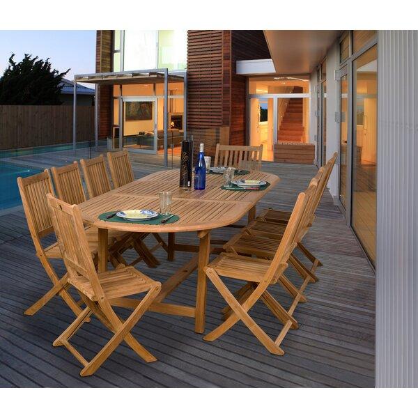 Mcpeters International Home Outdoor 11 Piece Teak Dining Set