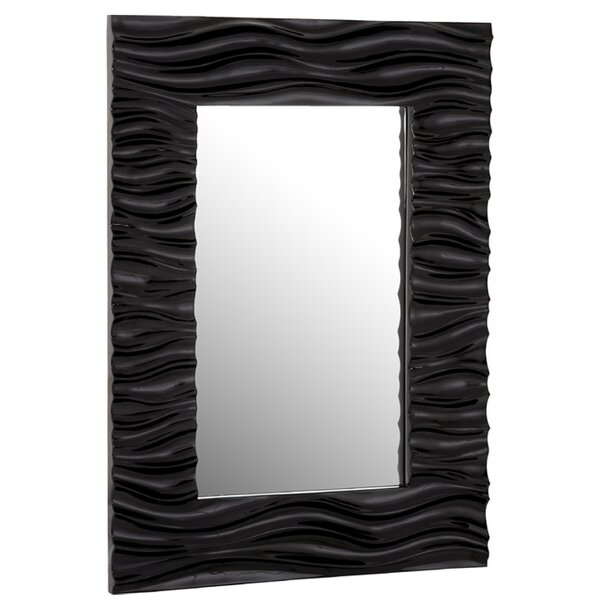 Stylish Rectangular Wavy Framed Glass Wall Mirror by Majestic Mirror