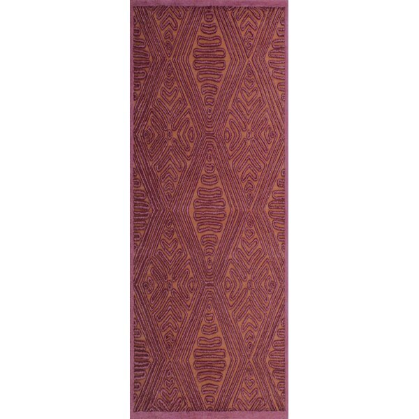 Enkhuizen Hand-Woven Purple/Beige Area Rug by Bungalow Rose