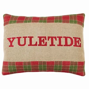 Plaid Yuletide Cotton Throw Pillow