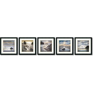 'Vanscoy Coastal Photography' by William Vanscoy 5 Piece Framed Photographic Print Set (Set of 5) by Amanti Art