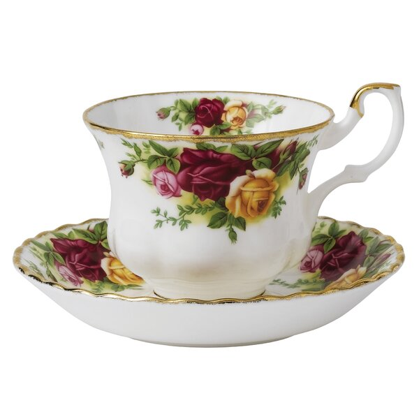 Old Country Roses 6.5 oz. Teacup and Saucer by Royal Albert