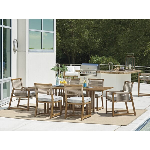 St Tropez 7 Piece Dining Set with Cushions