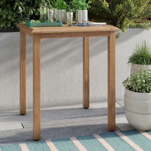 Brighton Teak Bar Table by Sol 72 Outdoor Sol 72 Outdoor
