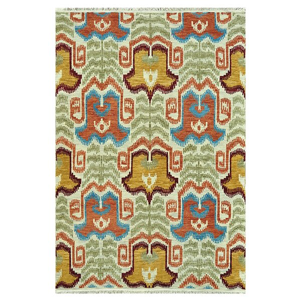 Zarate Hand-Knotted Ivory Area Rug by Bloomsbury Market