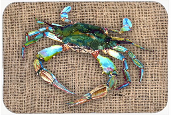 Crab Light Brown Glass Cutting Board by East Urban Home