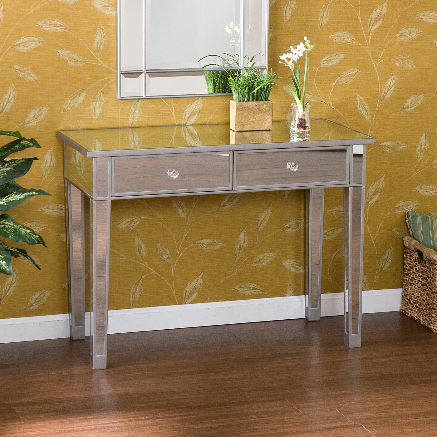 Mirrored Console Tables You\'ll Love | Wayfair