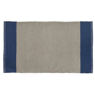Linden Hand-Woven Khaki/Navy Indoor/Outdoor Area Rug by Home Furnishings by Larry Traverso