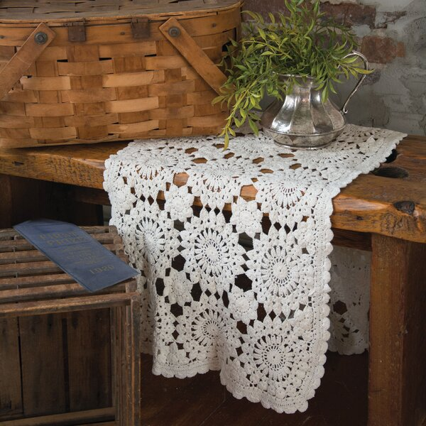 Blue Ribbon Crochet Runner by Heritage Lace