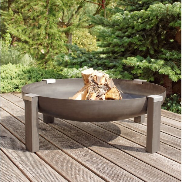 Tilsit Rusting Steel Wood Burning Fire Pit by Curonian