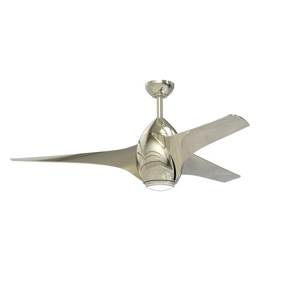 52 Valerie 3 Blade Ceiling Fan with Remote by Brayden Studio