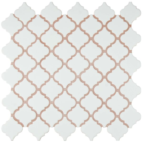 Pharsalia 2 x 2.25 Porcelain Mosaic Tile in Matte White by EliteTile