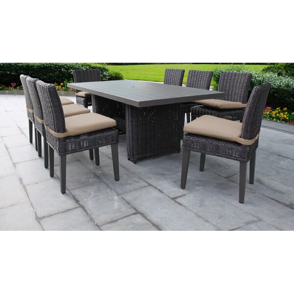Fairfield 9 Piece Dining Set with Cushion by Sol 72 Outdoor