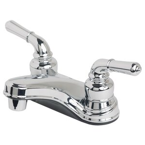 RV/Mobile Home Deck Mounted Double Handle Bathroom Faucet
